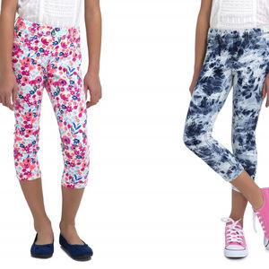 Girls' Cropped Cuffed Jegging Multi-Print Size XL